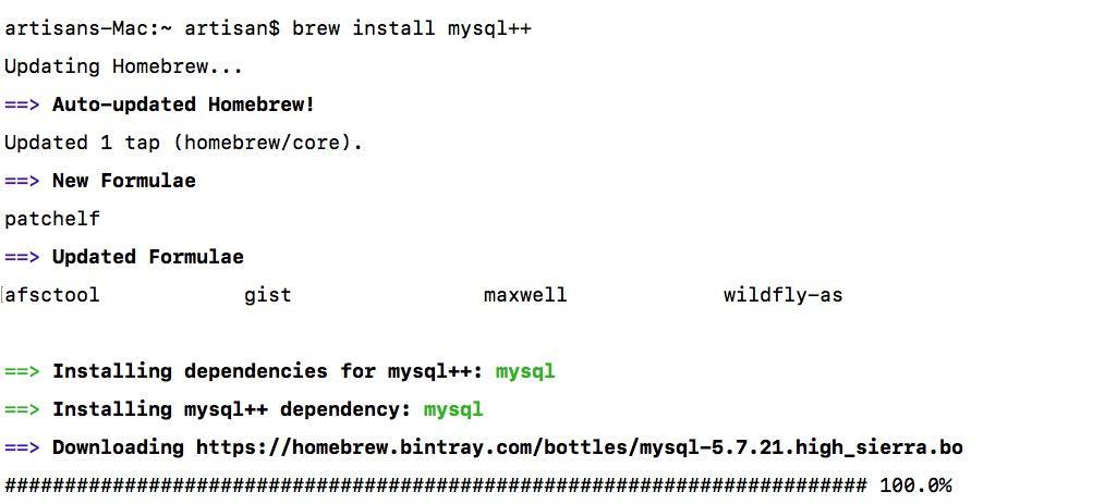 编程原力,homebrew安装mysql5.7